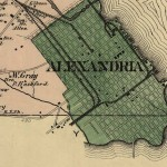 Alexandria County Map Excerpt, 1878