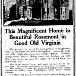 Washington Star Ad - December 6, 1919