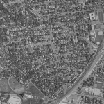 Rosemont seen from the air, c. 1980