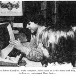 Maury School students use a computer at the school science fair, 1979