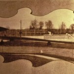 Rosemont Station and Tennis Court, c. 1912