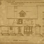 Blueprint for house of Frank L. Slaymaker, c. 1909