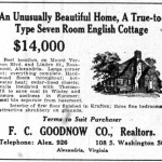 Real estate advertisement (showing what is now 101 West Linden Street), 1927