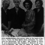 Five generations of women at the Taylor residence at 310 West Myrtle Street, 1943