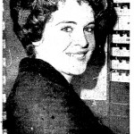 Clair Lamborne of 808 Junior Street votes at the Maury School, 1963
