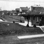 Rosemont Station and West Rosemont Avenue (Panoramic View), c. 1911