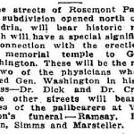 Rosemont Street Names Excerpt